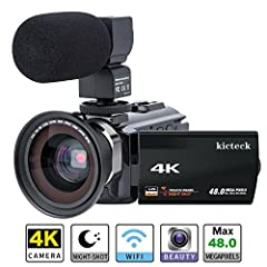 Video Camera Camcorder 4K