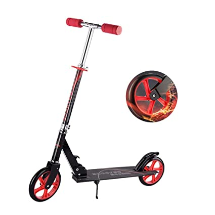 SSLHDDL Patinete Plegable con 2 Ruedas Luces Led Manillar ...