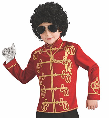Michael Jackson Costume For Halloween (Michael Jackson Child's Value Military Jacket Costume Accessory, Large,)