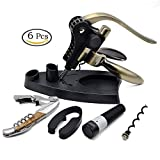 Best Wine Opener Set with Foil Cutter and Extra Waiters Corkscrew...