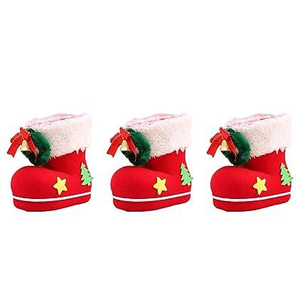 BESTOYARD Botas de Navidad Caramelos Bolsas de Regalo ...