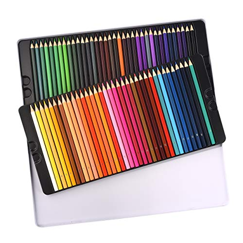 Atmoko 72 Colored Pencils Set, Pre-sharpened for Children and Adults, Multicolors