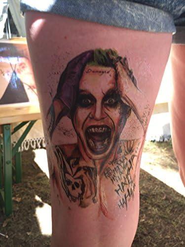 Tatuaje falso (KM141) del Joker (colorido) para brazo: Amazon.es ...