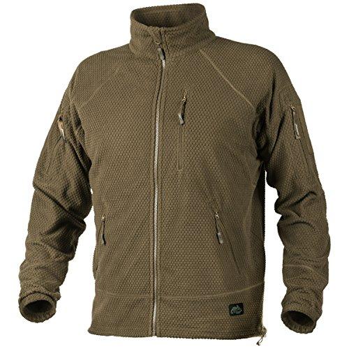 - Helikon Men's Alpha Tactical Jacket Grid Fleece Coyote Size XL