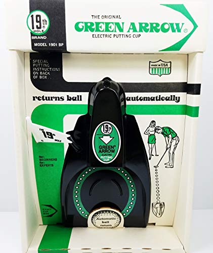 - 19th Hole Brand The Original Green Arrow Vintage 1984 (New in Original Packaging) Electric Putting Cup Model 1901 BP Returns Ball Automatically for Experts and Beginners