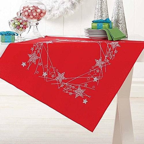 Herrschners® Stars on Red Table Topper Stamped Embroidery Kit ()