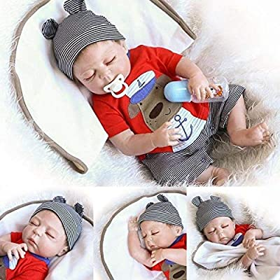 ZIYIUI 20 inch Reborn Baby Doll Full Body Silicone Baby Doll Anatomically Correct Realistic Boy Doll Real Touch Playmate: Toys & Games