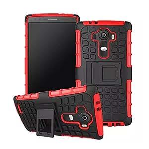 Red Rugged Anti-slip 2-layer Hybrid Hard Case Cover For LG G4