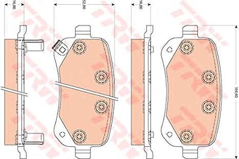 Scheibenbremse TRW GDB4176 Bremsbelagsatz