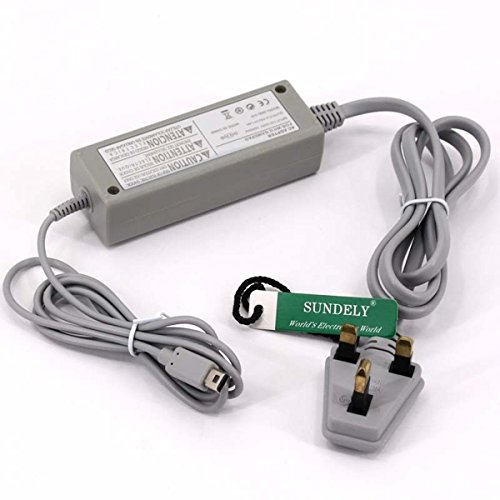 SUNDELY Power Supply Charging Adapter Cable Charger For Nintendo Wii U...