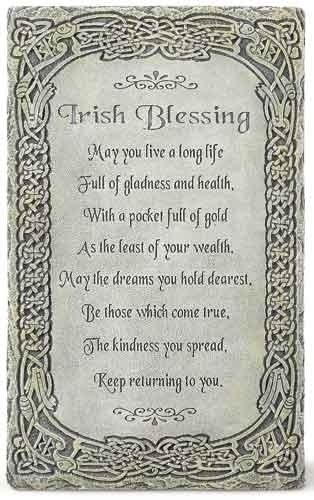 "Irish Blessing ""May You Live a Long Life"" 8″ Wall Plaque"
