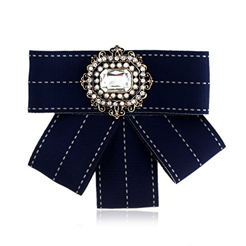 - European and American big exaggeration neckwear bohemian fashion wild multi-layer parquet square diamond bow brooch lovely woman