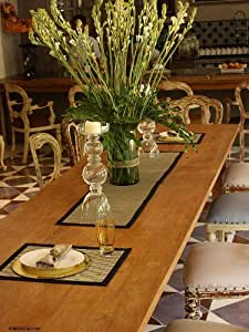 NOVICA Beige Natural Fiber Table Runner and Placemats, 'Gray Weaves' (Set for 4)