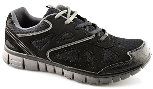 Dek Mens Synthetic Leather Running Shoes Black q59m7hfyFo