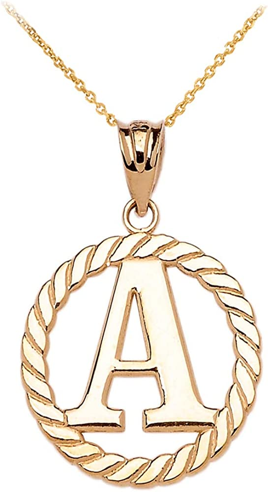 Genuine Solid 9ct Yellow Gold Personalised Small Plain Circle Pendant Name Necklace Gift