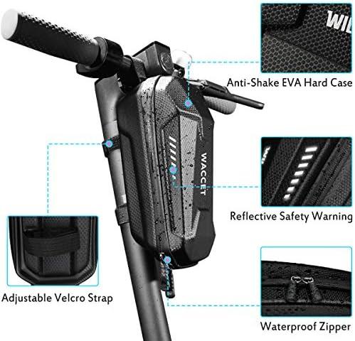 WACCET Sac Trottinette Electrique Etanche Sac de Rangement pour Xiaomi M365 et Autres Scooters électriques, Sacoche de Transport Guidon pour Bouteille d'eau/Chargeur/Clé/Outils/Appareil Photo, 2L