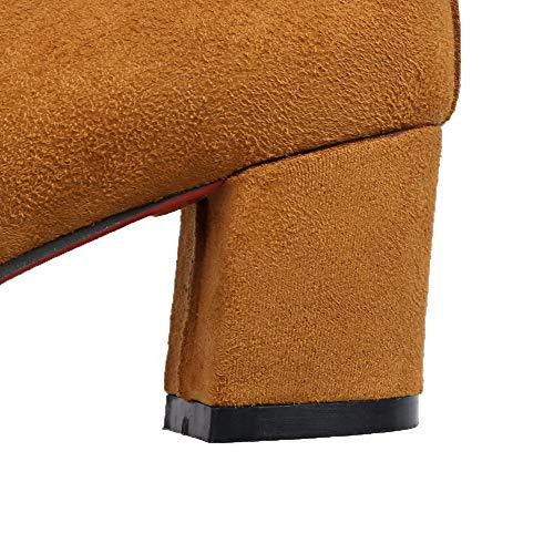 Tacco Ballet GMMDB006623 Donna AgooLar Pelle Flats Mucca Fibbia Giallo Puro Medio di qnBR8xEwgR