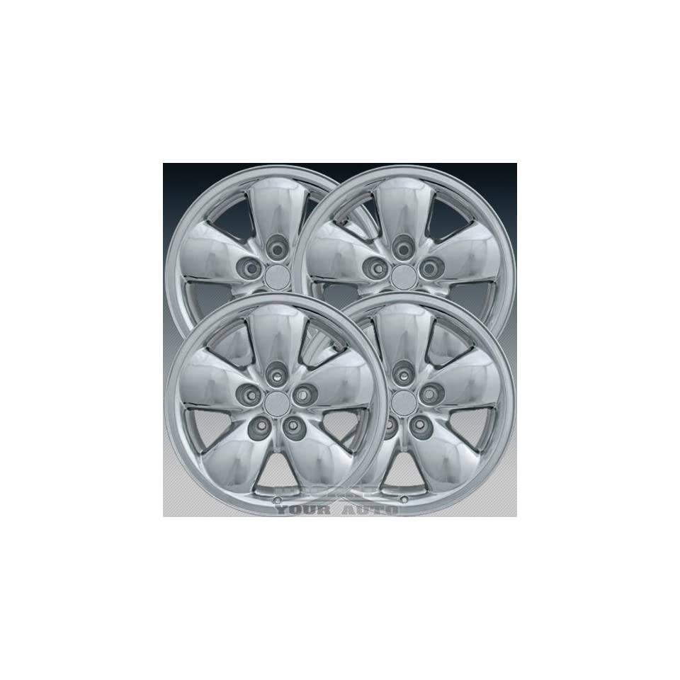 2002 2005 Dodge Ram 1500 20X9 Factory Replacement Cladded Chrome Wheel Set of 4