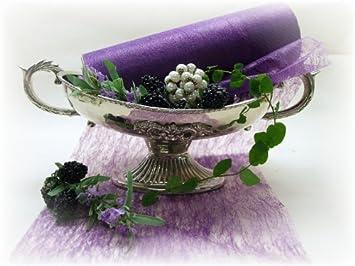 20m 23cm Tischband Lila Vlies Hochzeit Tischdeko Kommunion