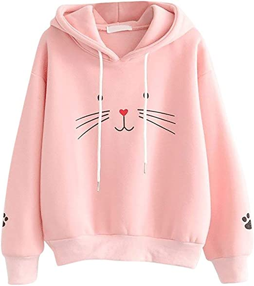 jin&Co Sweatshirts for Women with Hooded Long Sleeve Tunic Tops Loose Pullover T Shirts Casual Crew Neck Blouses