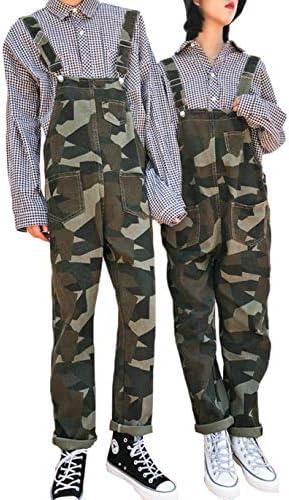 [YYQ-SHOP]メンズ サロペット デニム ゆったり ロングパンツ 迷彩柄 ファッション オーバーオール ジーンズ ストリート系 オールインワン カジュアル おしゃれ 秋 冬 ペアルック