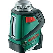 Bosch PLL 360 (Set) - Pack con nivel láser de línea y trípode, proyección horizontal 360°, color negro y verde