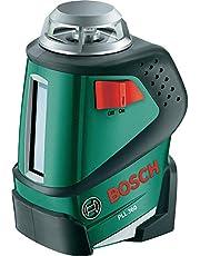 Bosch 360° Linienlaser PLL 360 Set (4x Batterien AA, Stativ, Tasche (Arbeitsbereich 20 m, +/-0,4 mm/m Messgenauigkeit))