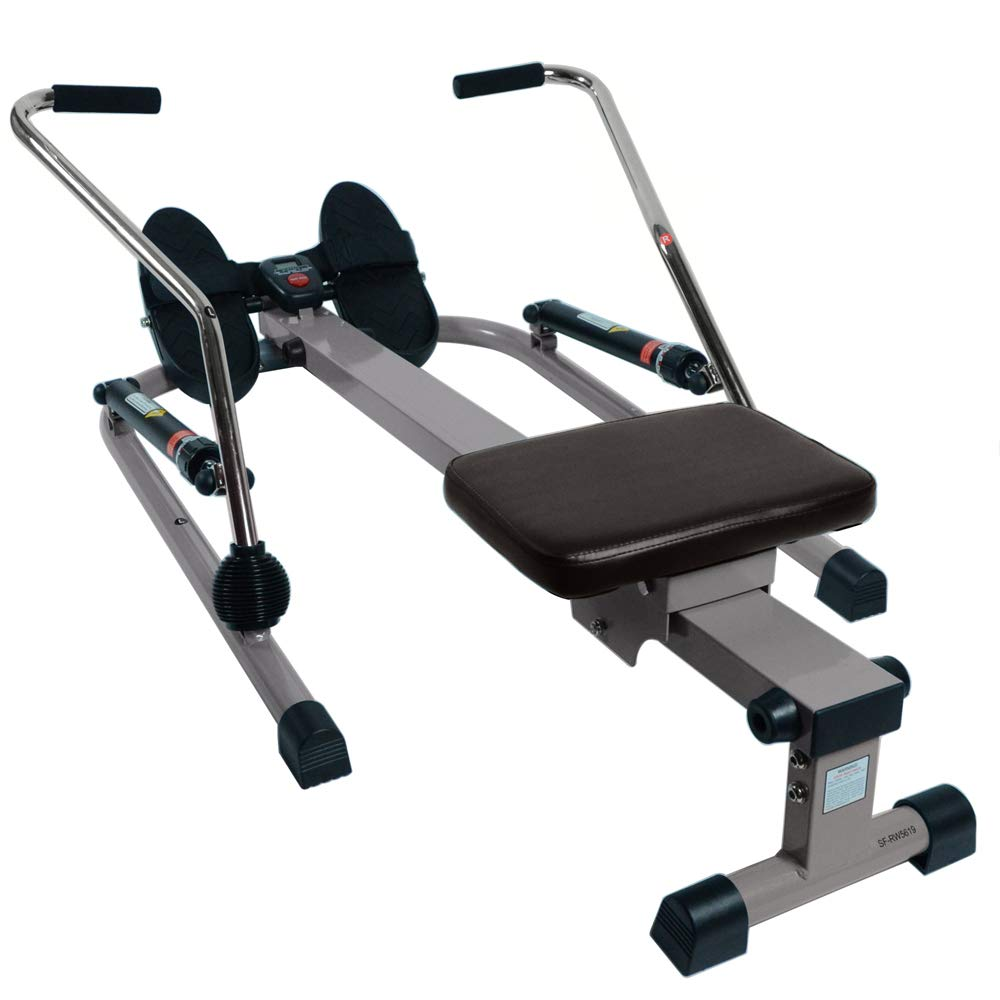 Sunny Health and Fitness 12 Level Resistance Rowing Machine Rower w/Independent Arms (SF-RW5619) with Workout Cooling Towel by Sunny (Image #7)