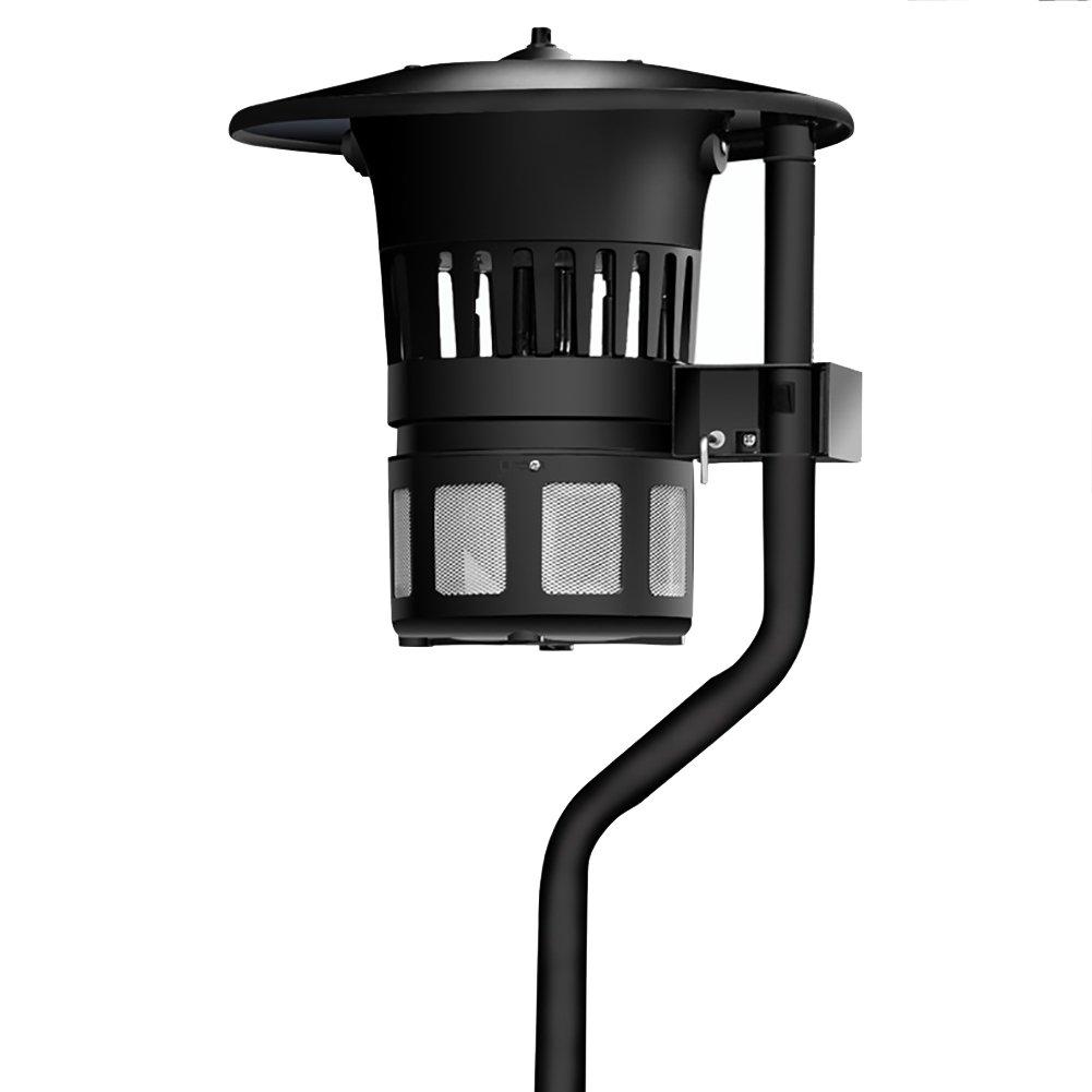 GUOWEI 蚊ランプ電撃殺虫灯 UVA紫色の光 光触媒 吸入タイプ 床置き 防水 屋外 黒 (色 : ブラック, サイズ さいず : 31.5x31.5x120cm) B07DRHMJY8  ブラック 31.5x31.5x120cm