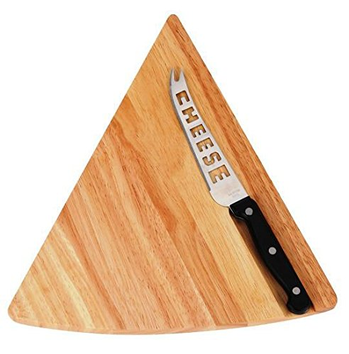 2 Piece wood cutting board set includes Knife and Cheese Board.