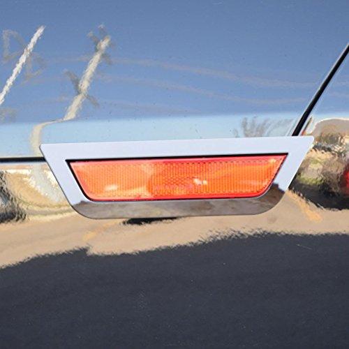 Ferreus Industries Polished Stainless Rear Hazard Light Trim fits: 2010-2013 Chevy Camaro OTH-117-06