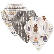 Luvable Friends Basic Cotton Bandana Bib Set,Tribe 3 Pk,One Size