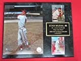 Stan Musial St Louis Cardinals 2 Card Collector Plaque #4 w/8x10 Photo