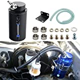 Dewhel Universal Cylindrical JDM 750ml Aluminum Engine Oil Catch Can Reservoir Tank Black Car Accessory For Dodge Honda Acura Mazda Mitsubishi Nissan Infiniti Lexus Toyota Scion Ford Chevy Subaru etc
