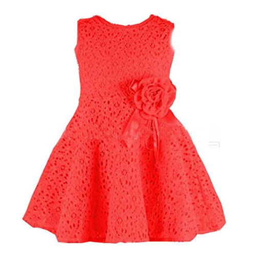 Mr.Macy Girls Dress, Kids Full Lace Floral One Piece Dress Child Princess Party Dress (110, - Macy Kids