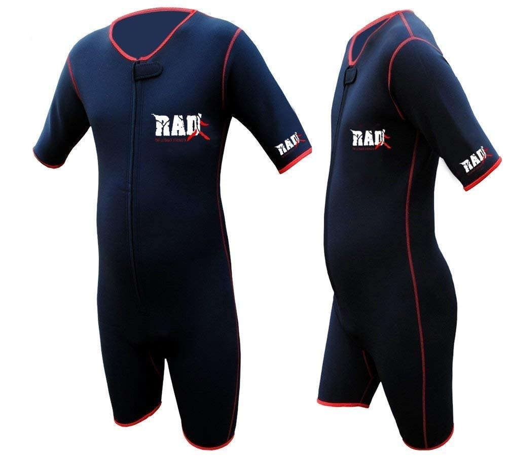 RAD Ultimate Strength Heavy Duty Sauna Sweat Suit Gym Boxing MMA Weight Loss Slimming Shorts (Black, 3XL)