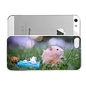 iPhone 5&5S cover case Animals Hamster Teatime