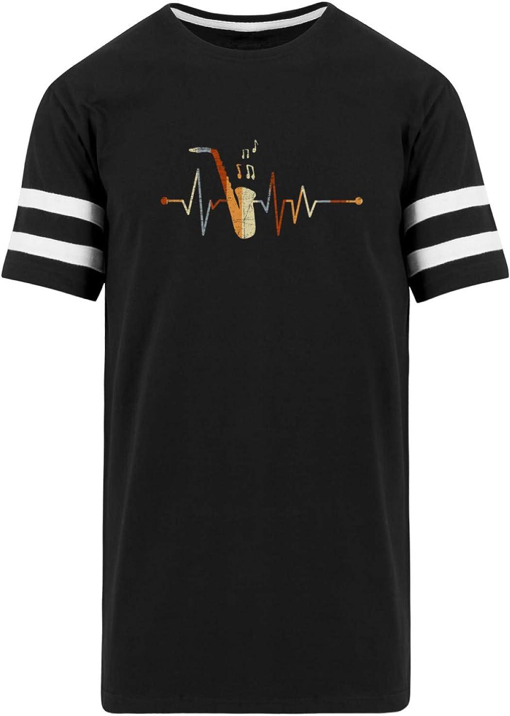 Shirtee Saxofón Saxofonista Instrumento Musical Músico Jazz Latido del Corazón - Camisa de Hombre -XXL-ennegrecer: Amazon.es: Ropa y accesorios