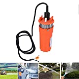 DC 12V 6.5L/min Solar Powered Submersible Pump, Farm Ranch Deep Well Water Pump, 200FT Max Lift