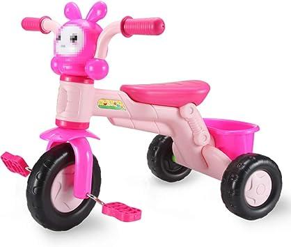 Axdwfd Infantiles Bicicletas Triciclo para niños con música Bicicleta para Pedales para niños de 1 a 3 años de Edad, Peso de Carga, 25 kg. Carro de bebé Niños Niñas Juguete (Color :