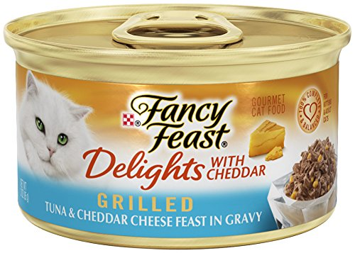Purina Fancy Feast Delights With Cheddar Grilled Tuna & Cheddar Cheese Feast In Gravy Wet Cat Food - (24) 3 Oz. Cans