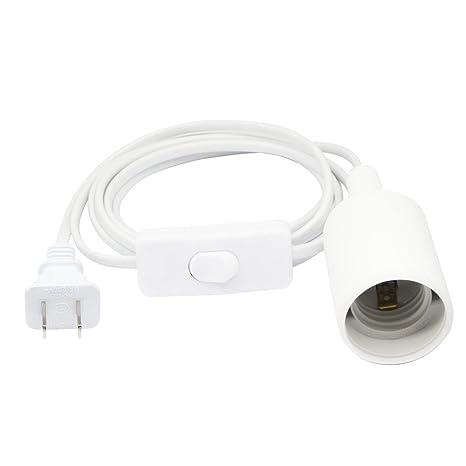 SinLoon Light Bulb Socket Set E26 E27 Extension Hanging Lantern Pendant  Light Lamp Cord Cable ON