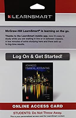 LearnSmart Access Card for Advanced Financial Accounting 11th Edition