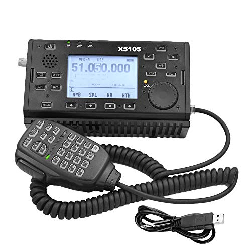 - Xiegu X5105 QRP HF Transceiver Amateur Ham Radio VOX SSB CW AM FM RTTY PSK 0.5-30MHz 50-54MHz 5W with USB Cable (2019 Upgraded Version)