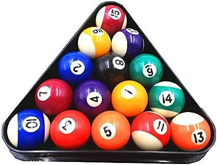 Dengguoli - Juego de 16 bolas de billar para billar (aprox. 2,5 cm ...