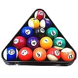 Dengguoli 16 Pcs 1 inch Mini Billiards Pool Ball Set for Pool Table Game Cue Sports