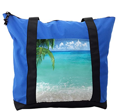 Lunarable Ocean Shoulder Bag, Exotic Lebanon Beach Africa, Durable with Zipper by Lunarable