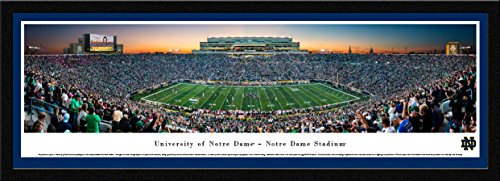 Notre Dame Football - Single Mat, Select Framed Print by Blakeway Panoramas