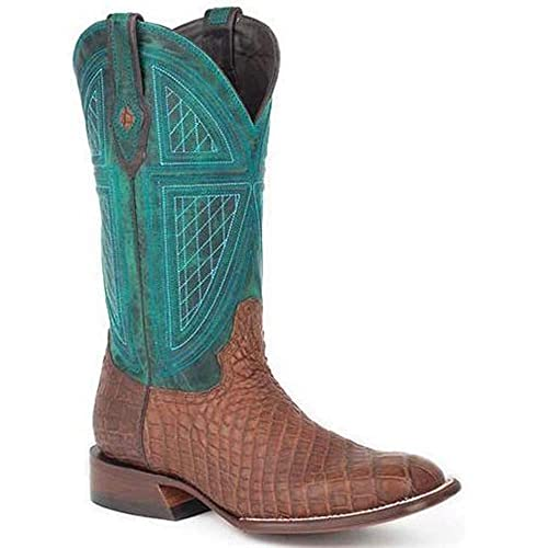 63ee5417a8d Amazon.com | Men's Stetson Big Horn Alligator Boots Square Toe ...